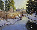 Winter Stream, Evening