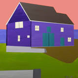 Painting: Oh, But to Live in a Violet Barn
